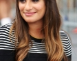 Lea Michele films 'Glee' with co-star Dean Geyer in Washington Square Park, New York City